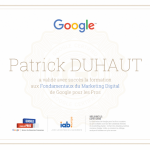 Validation Google Marketing Digital